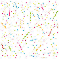 party streamers party streamers and confetti birthday card or celebration vector