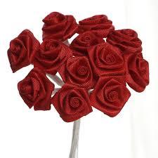 satin roses 144 pcs boutonniere rosebud flower applique diy brooch silk