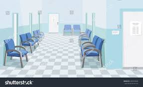 empty waiting room hospital private medical stock vector 383674648