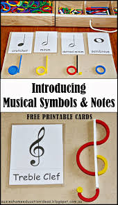 suzie u0027s home education ideas introducing musical symbols and notes