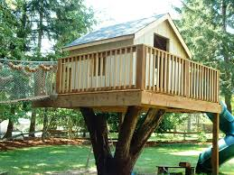 backyard treehouse plans tree fort ladder gate roof finale house