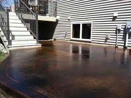 Painting Concrete Patio Slab Black Acid Stain Photo Gallery Directcolors Com