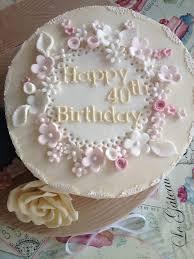 edible lace 40th birthday cake sugar flowers sugar roses cake lace edible