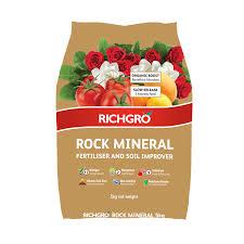 richgro 5kg rock mineral fertiliser and soil improver bunnings