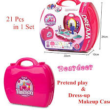 Vanity Case Beauty Studio Pretend Play Make Up Kit For Little Girls U0026 Kids 21 Pcs Beauty