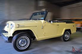 convertible jeep black jeep jeepster commando convertible restored excellent condition