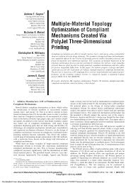 multiple material topology optimization of compliant mechanisms
