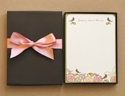 personalized stationery set custom stationery personalized rustic pink green flower
