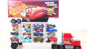 lightning mcqueen monster truck videos special disney pixar cars mack truck display case lightning
