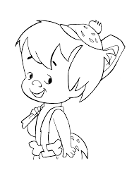 bam flintstones coloring pages sketch coloring page