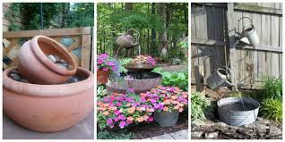 15 diy outdoor fountain ideas make a garden fountain for