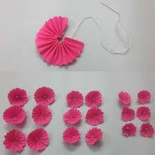 crepe paper flowers diy wall hanging home decoration using paper flowers