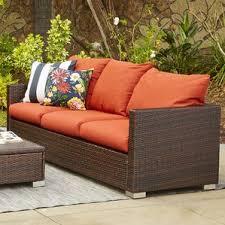 Wicker Indoor Sofa Indoor Outdoor Couch Wayfair