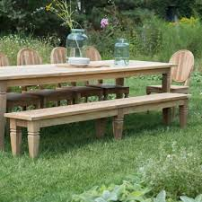 Patio Table And Bench Outdoor Furniture Terrain