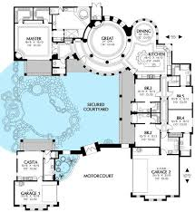 mediterranean house plans with courtyard home plans with courtyard plan md mediterranean villa with two