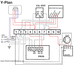 boiler wiring diagram for thermostat to y plan hive new central and