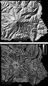 Space Debris Map Periglacial Debris Flow Initiation And Susceptibility And Glacier