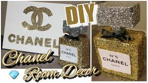 Chanel Party Decorations Diy Chanel Perfume Bottle Room Decor U0026 Chanel Canvas Wall Decor