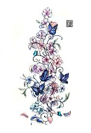 Flowers For Birds And Butterflies - best 25 butterfly shoulder tattoo ideas on pinterest butterfly