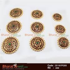 bharatanatyam hair accessories 9 pc pearl billai braid kemp stones hair temple ornament temple