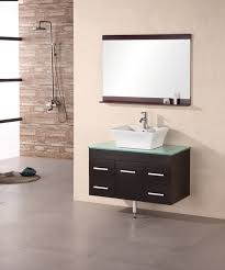 40 Inch Bathroom Vanities by 36 Inch Modern Single Vessel Sink Bathroom Vanity With Glass