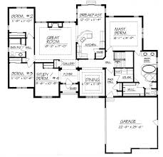 one story house plans without dining room home deco plans