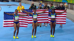 Usa Track And Field Map It by First Time Ever U S Women 1 2 3 In Olympic Track Event Nbc