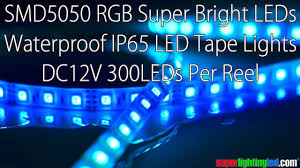 super bright smd 5050 rgb led strip lights high power super bright colors waterproof ip65 flexible led strip