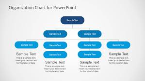 simple organizational chart template for powerpoint slidemodel