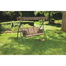outdoor expressions 3 person cushioned patio swing rus4592 do