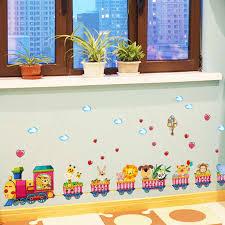 wandgestaltung kindergarten zug kindergarten wandgestaltung tapete aufkleber baby