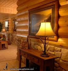 log home interior walls golden eagle log and timber homes design ideas work