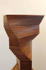 large mid century modern wood sculpture by meyerowitz