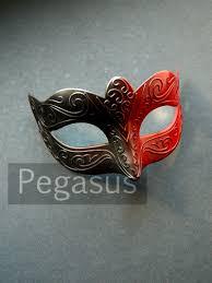 black and red harley quinn mask base 1 mask dual color