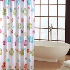 Multi Color Shower Curtains Buy Extra Long Hookless Shower Curtain 72 Inch By 80 Inch Multi
