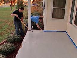 Stain Old Concrete Patio by How To Stamp A Concrete Porch Floor How Tos Diy
