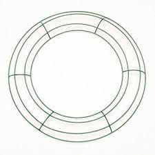 bulk buy darice diy crafts metal wreath form green 16
