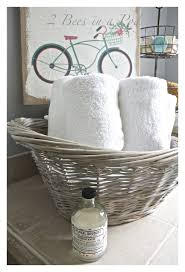 diy gray washed wicker laundry basket 2 bees in a pod