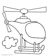 toddlers coloring pages helicopters
