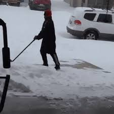 Shoveling Snow Meme - guy falling for 9 seconds while trying to shovel snow find make