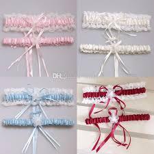 wedding garters 2016 bridal garters pink blue flower ribbon wedding garter