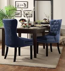 dining room converting wingback dining chair with brown wooden
