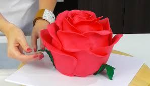 tutorial how to make a beautiful rose cake