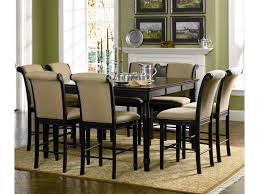 dining room table height coaster cabrillo 9 piece counter height dining set dunk u0026 bright