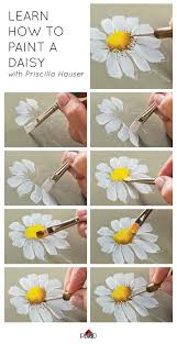 learn how to paint a daisy with priscilla hauser super easy step