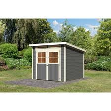 Holzhaus Kaufen Gebraucht Holz Gartenhaus Egersund 2 Terragrau 203 Cm X 155 Cm Kaufen Bei Obi