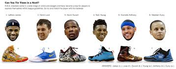 a n b a rivalry sneaker collections the new york times