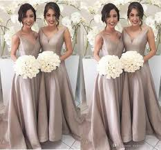 bridesmaid dress 2017 simple bridesmaid dresses a line sleeveless v neck