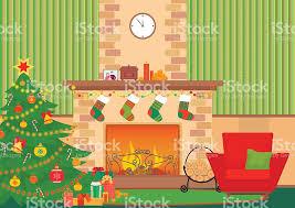 Christmas Livingroom by Christmas Livingroom Flat Interior Vector Illustration New Year