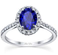 sapphires rings images Blue sapphire engagement ring with oval cut center and pave jpg